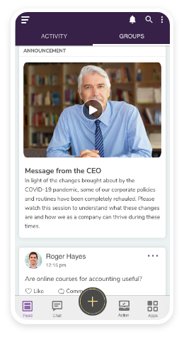Groupe.io Software - Real-time broadcasts