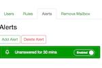 Emailgistics screenshot: Emailgistics alerts