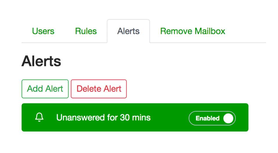 Emailgistics alerts