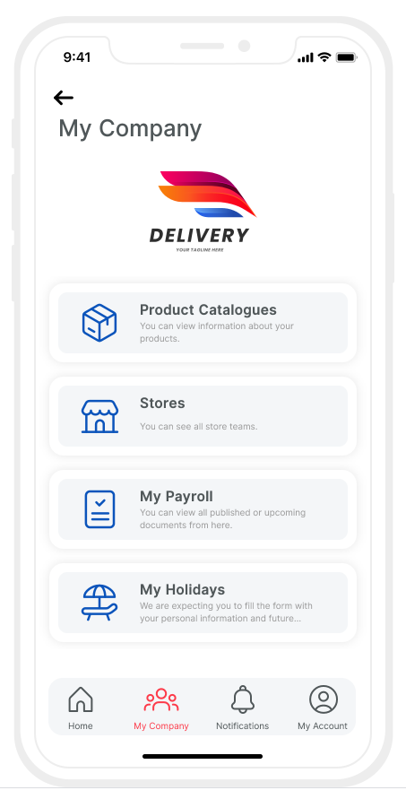 Integrate all your People Processes. Show all needed docs to your employees on mobile