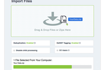 Nextpoint screenshot: SIMPLE + SECURE UPLOAD: Our speedy drag-&-drop uploader makes it dead-simple for anyone to import and organize files in minutes. Database setup and all the complicated and critical stuff is done automatically—and there are NO data charges .