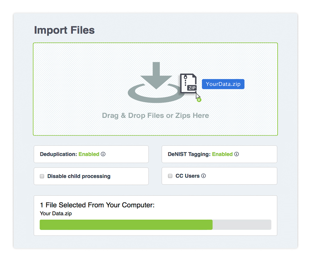 SIMPLE + SECURE UPLOAD: Our speedy drag-&-drop uploader makes it dead-simple for anyone to import and organize files in minutes. Database setup and all the complicated and critical stuff is done automatically—and there are NO data charges .