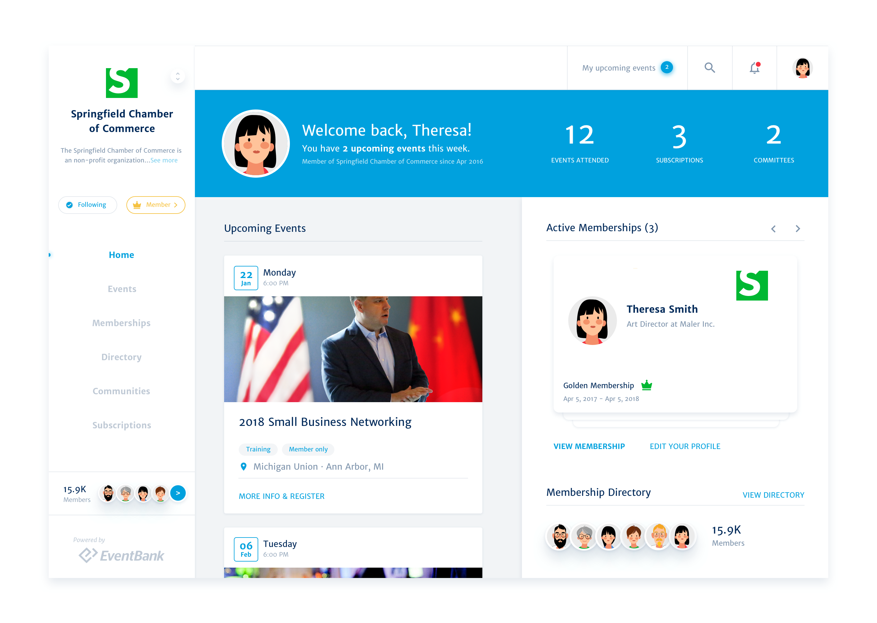 Glue Up Software - Glue Up Community Member Engagement Hub- Connect with the community on a personal level by giving them the power to engage with your organization and each other via Member Engagement Hub and in-built My Glue Mobile app