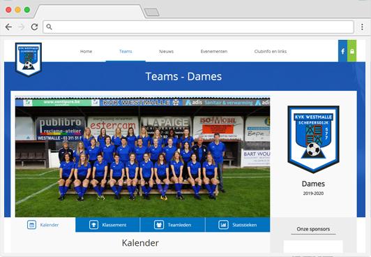 SportiveCloud club webpage