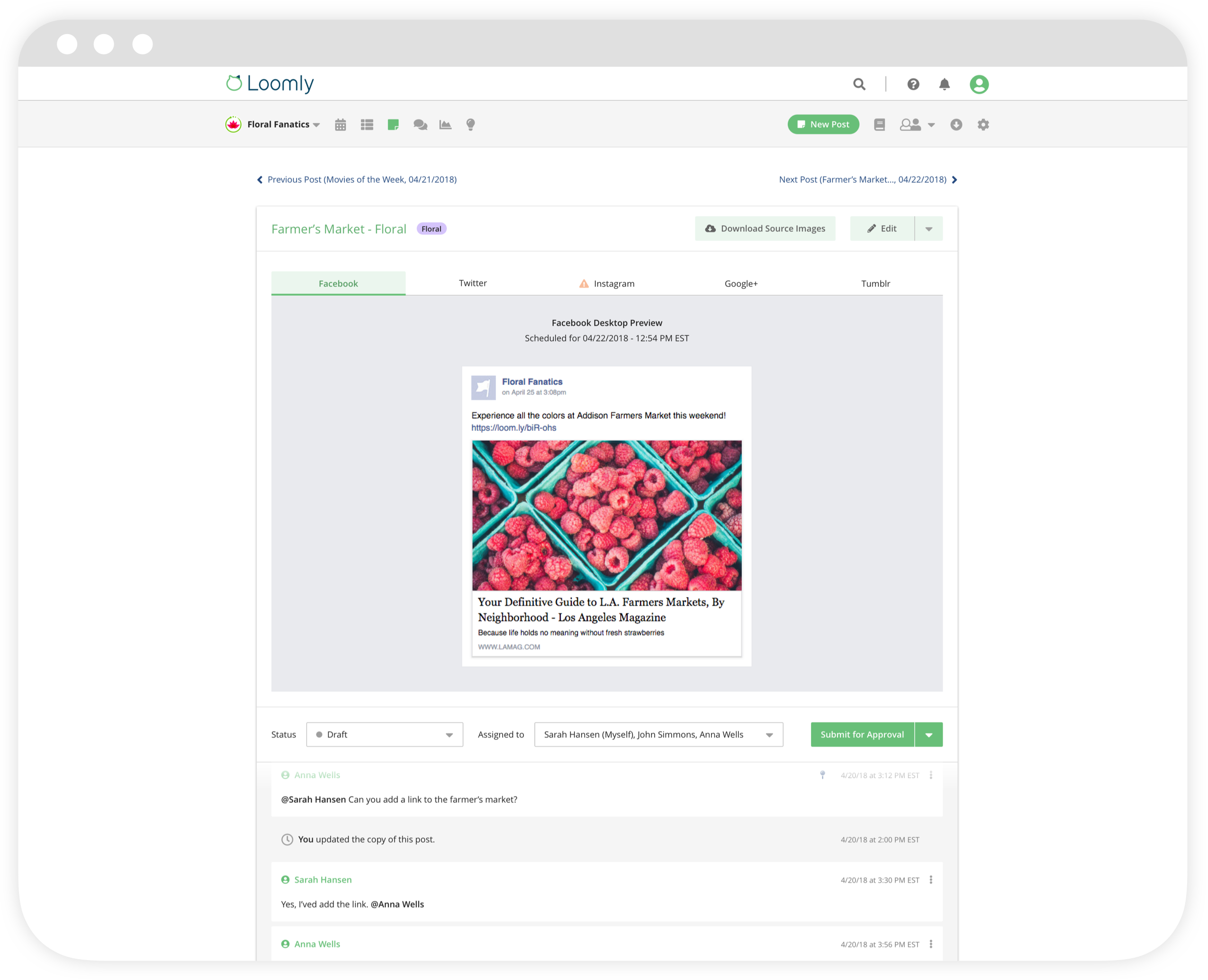 Loomly Software - Loomly New Post