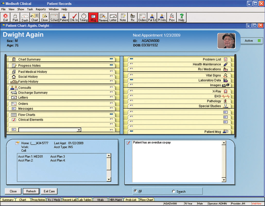Medisoft Clinical Software - Patient records