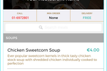 Flipdish screenshot: Customers can search dishes and place orders