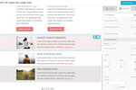 MailUp screenshot: Best email editor (beefree.io), fully responsive, very flexible. Ideal for both newbies and experienced designers.