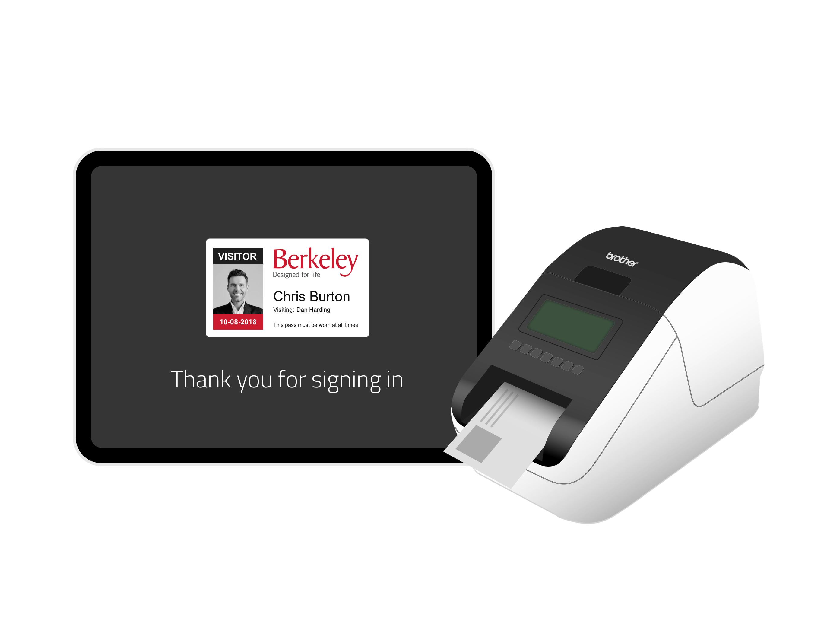 Sign In App Badge Printing