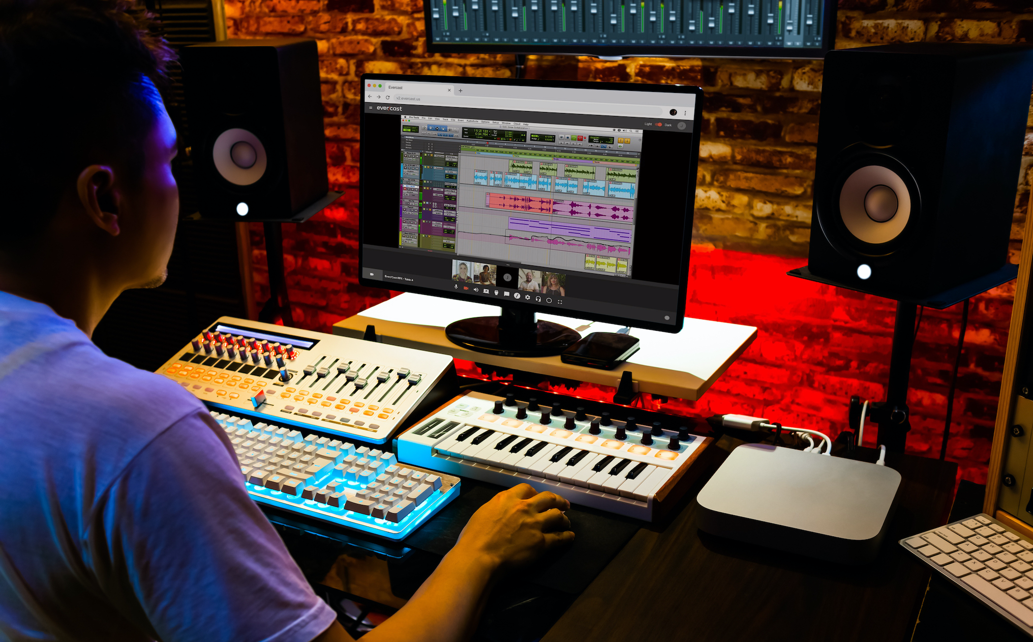 Video conference while collaborating on music production. Stream Pro Tools or any other software with full-spectrum audio and ultra low latency. 5.1 surround sound also available.