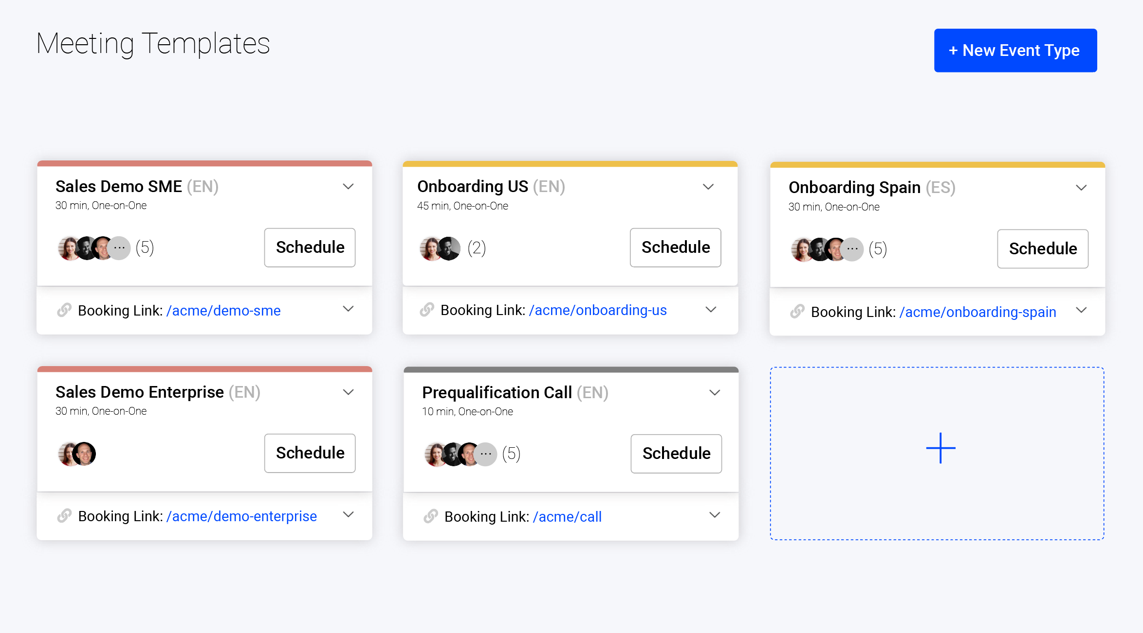 Demodesk: Meeting Templates