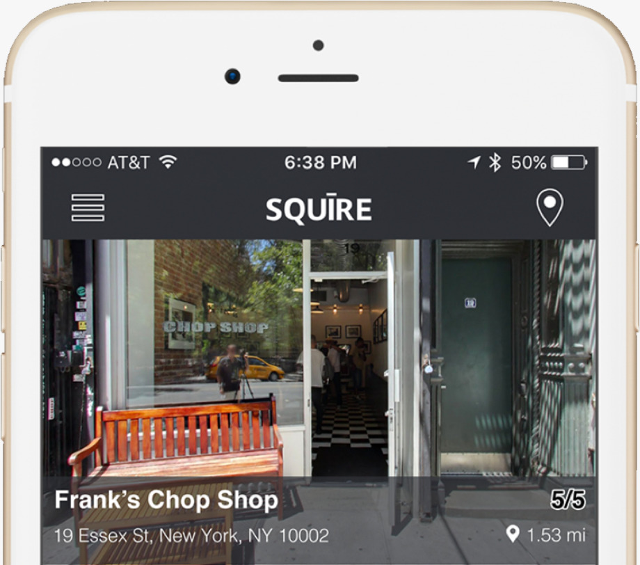 Squire will automatically show customers qualified shops based on their location and prerequisite filtering options