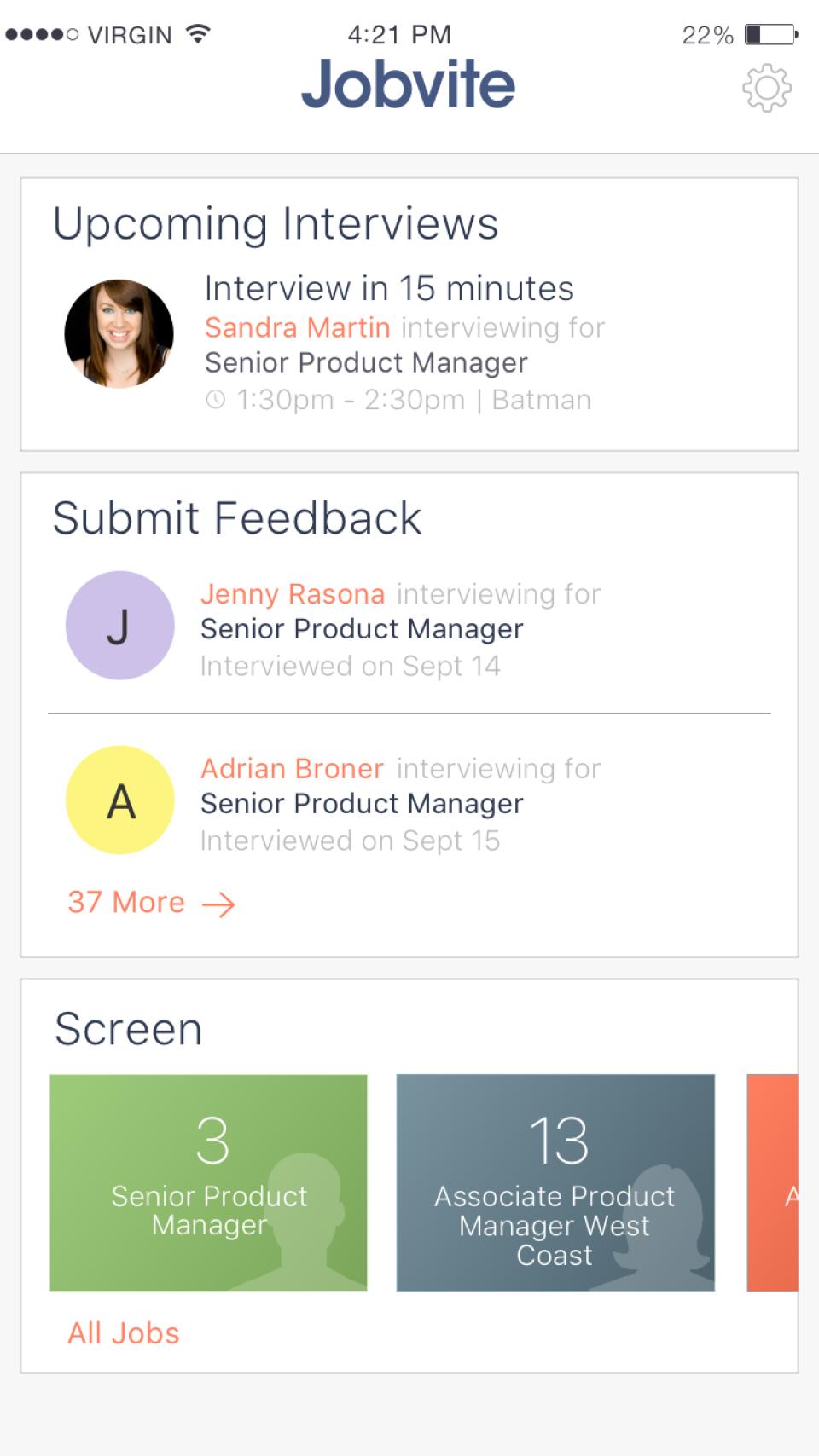 Hiring Team Mobile App