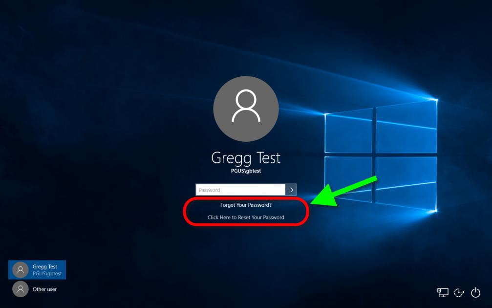 PortalGuard Desktop Links on Windows 10