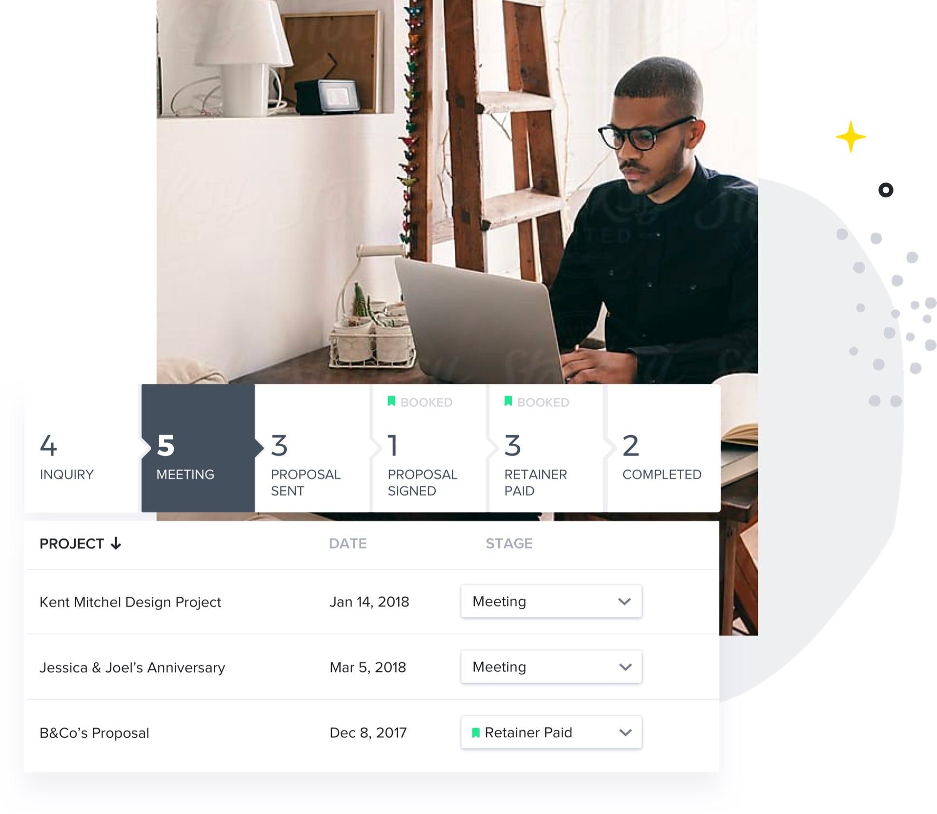 HoneyBook Software - HoneyBook meeting management