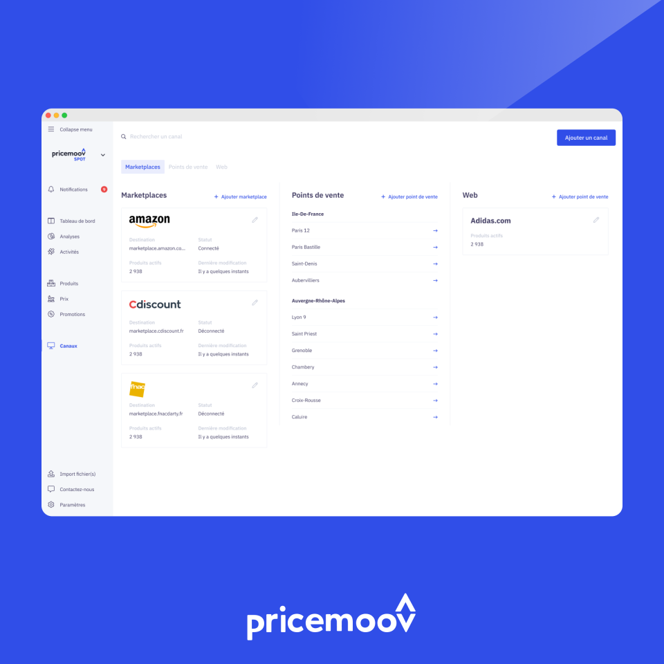 Pricemoov Software - pricemoov spot ecommerce