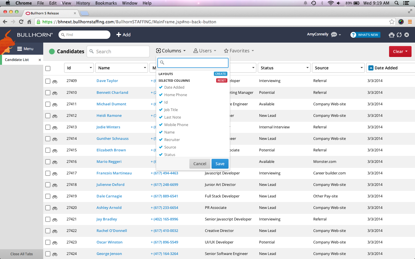 Easily configure views and columns