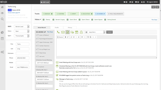 The lead dashboard helps users to prioritize daily lead-related tasks according to the workflow