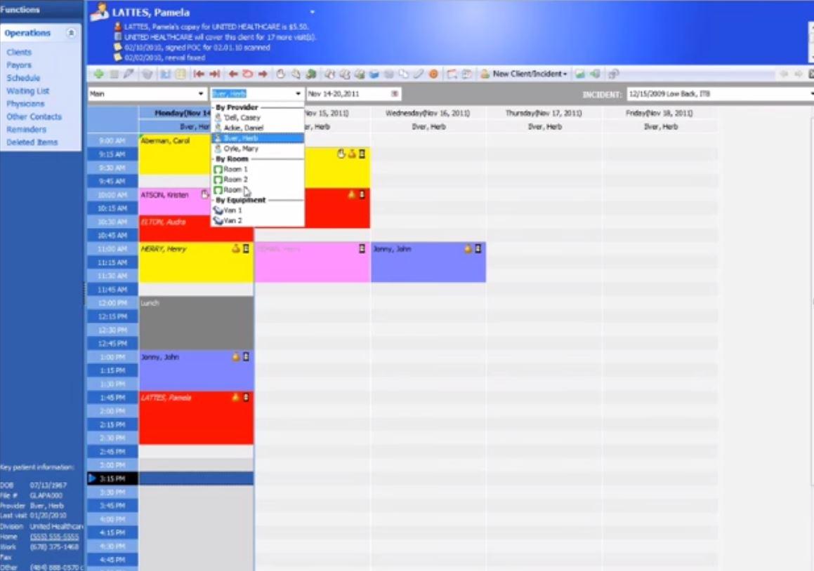 Practice Perfect EMR Software - Scheduler