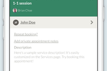 Visibook screenshot: Enter service descriptions to provide clients with booking details