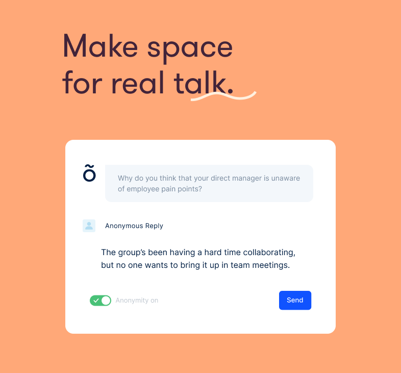 Officevibe Software - Make space real talk.