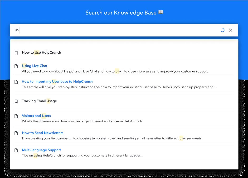 HelpCrunch Software - Knowledge base