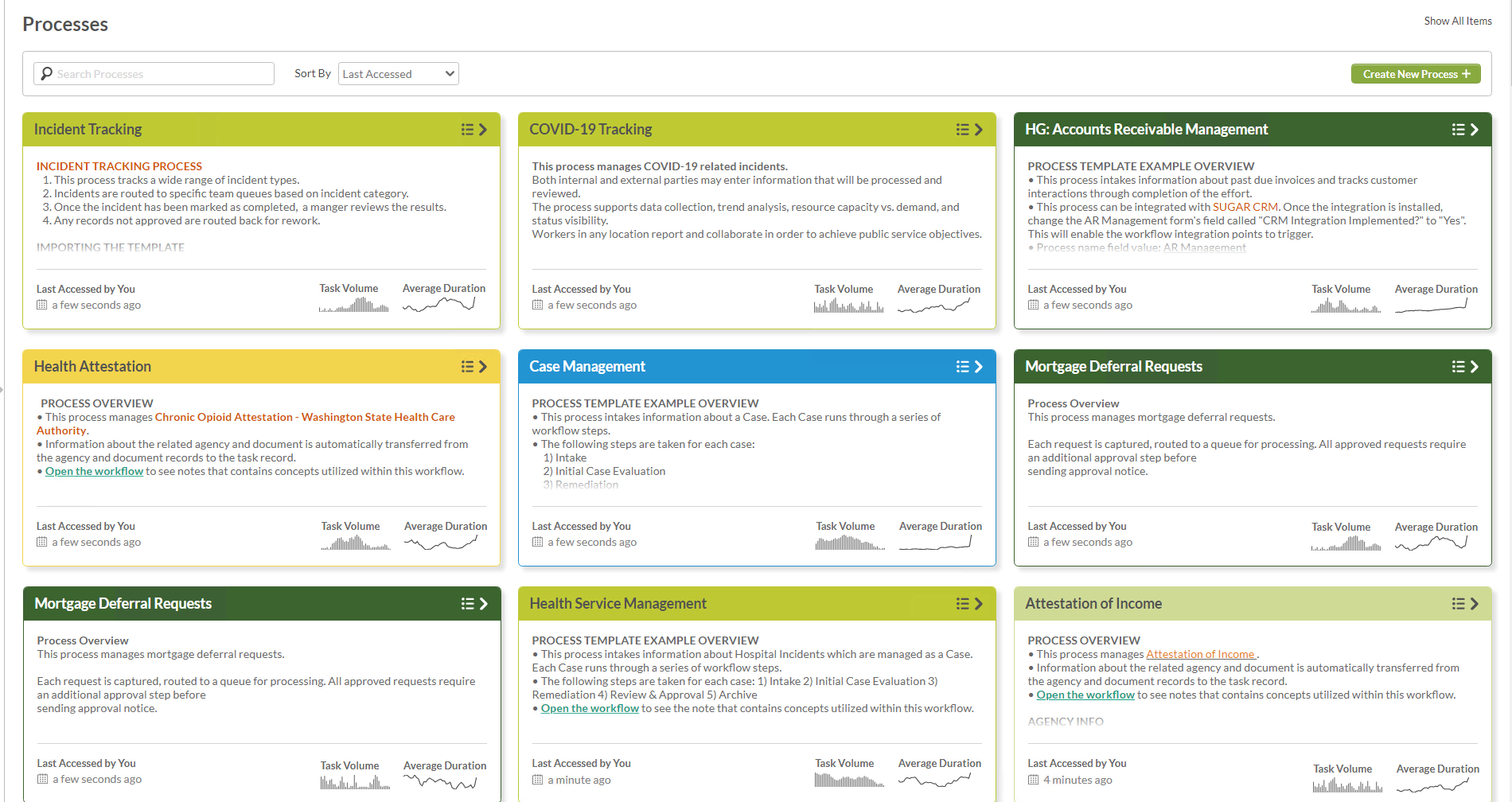 Download starter templates and build your own process library to help pass audits.