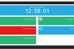 Prodsmart screenshot: Employees can use the self service tool to enter data in real time