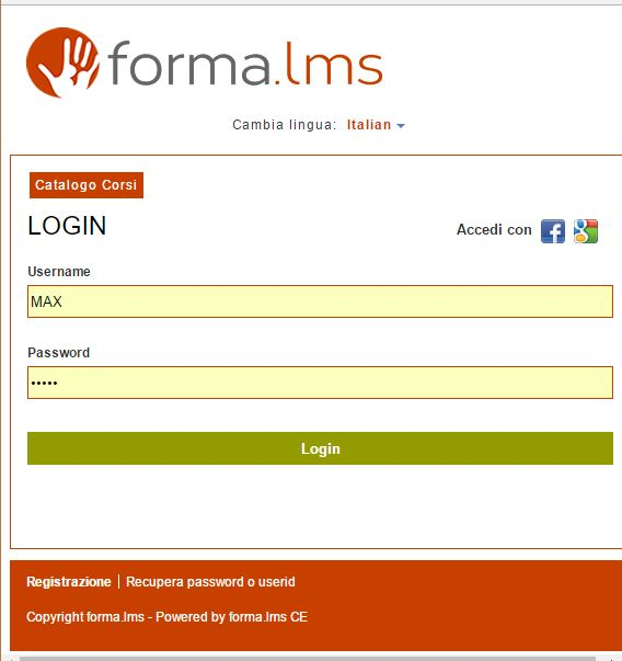 login on mobile device