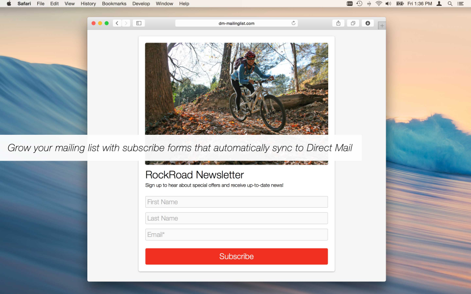 Grow mailing lists with Direct Mail-synced subscribe forms