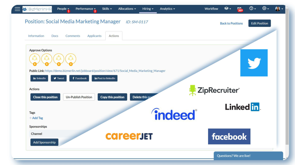 BizMerlinHR Software - Integrations