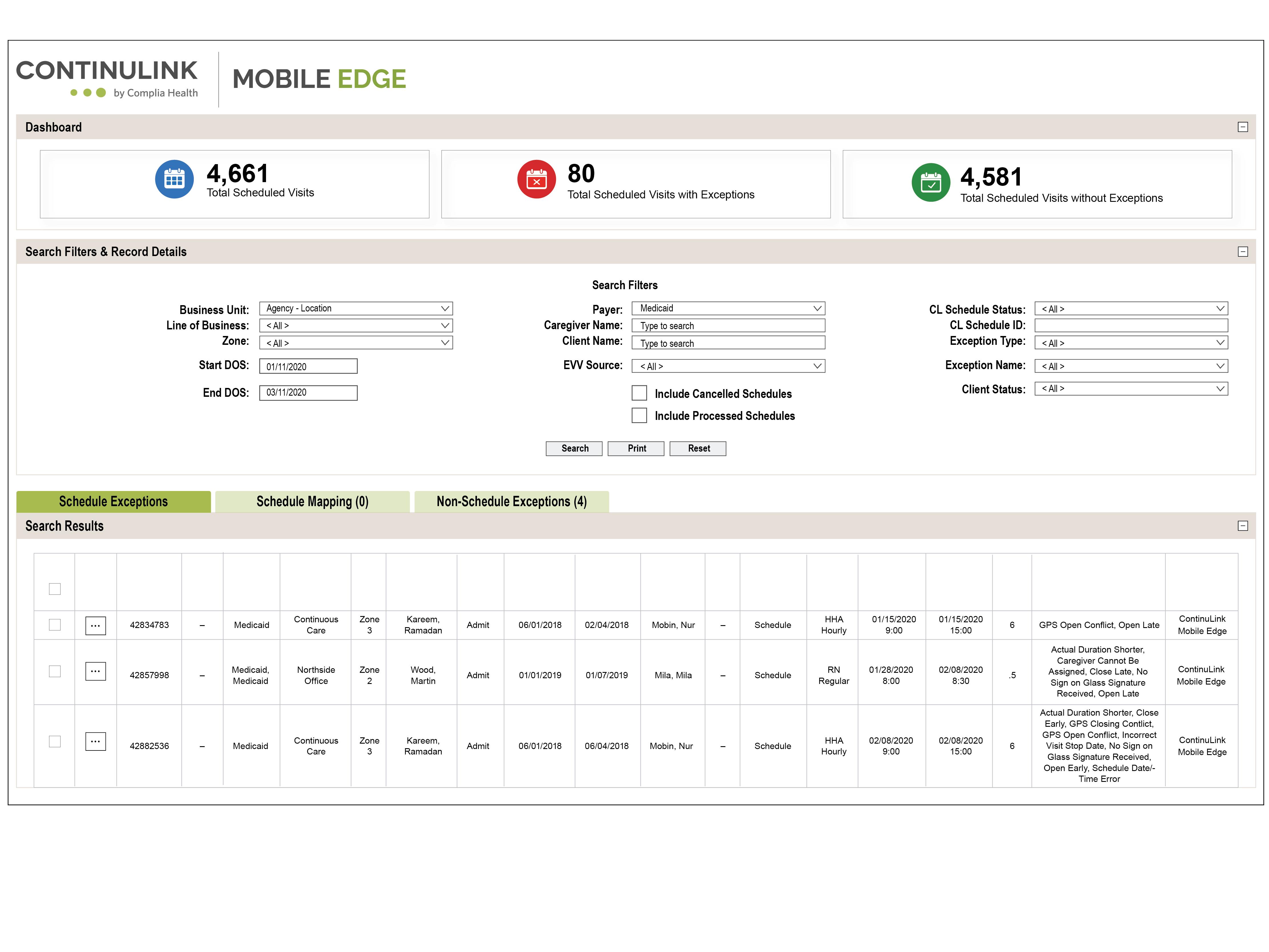 Mobile Edge EVV