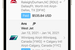 ExpensePoint screenshot: Mobile App Travel Booking