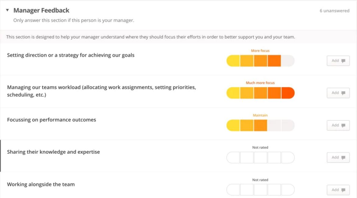 Manager feedback form