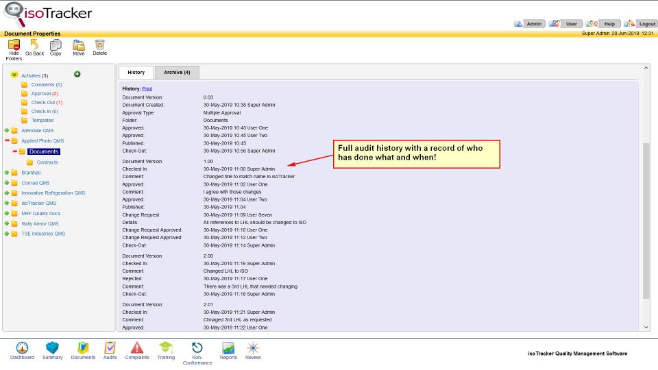 isoTracker Document Management Logiciel - 2