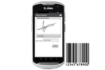 Stream Go screenshot: Electronic signatures can be captured and barcodes can be scanned on mobile devices