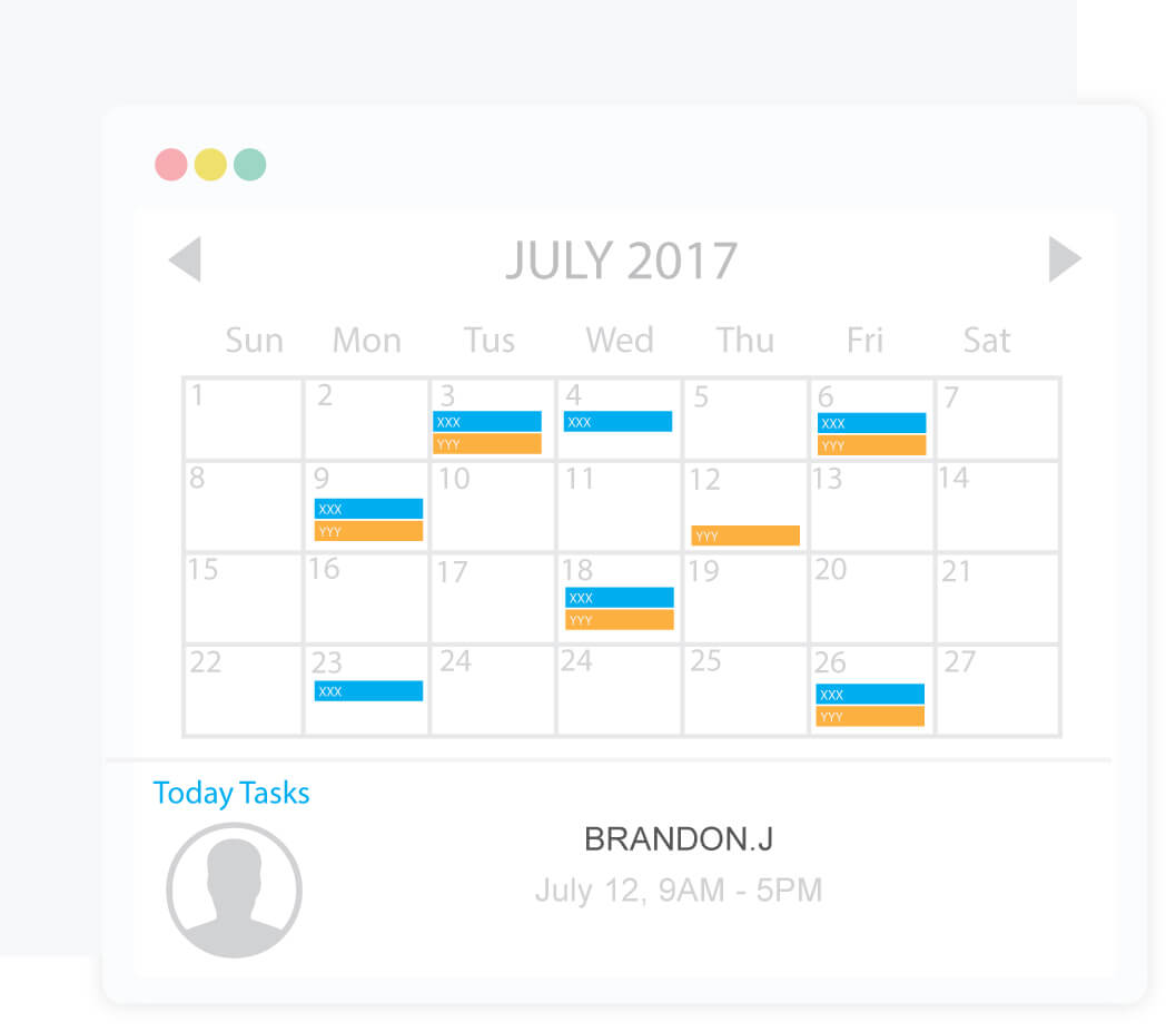 Managers can setup custom tracking schedules for each individual employee or team
