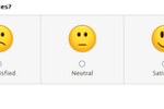 QuestionPro screenshot: Use smileys and emoticons to score responses with QuestionPro