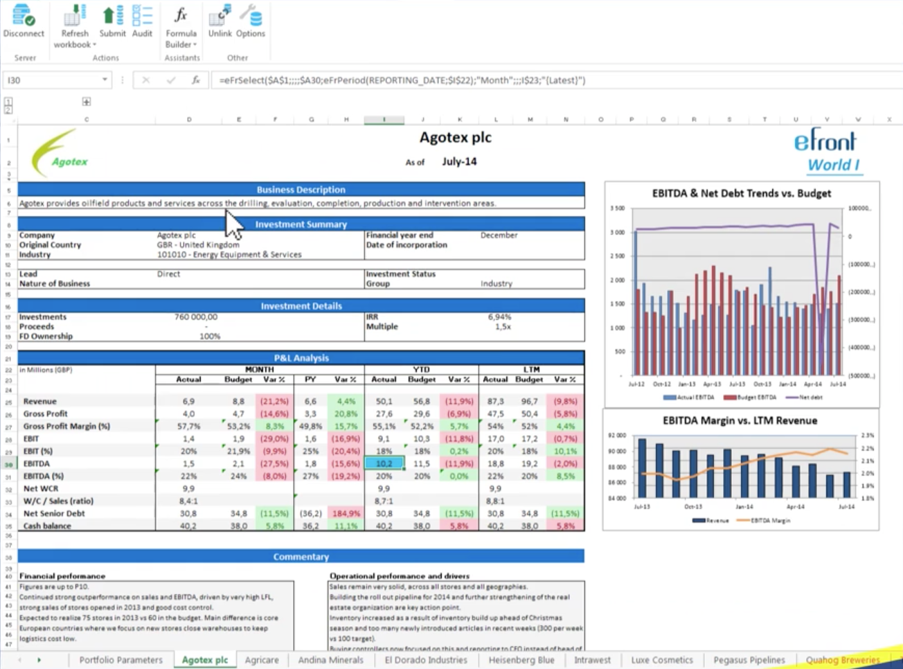 Integrate with Excel to ensure consistency and collect new data