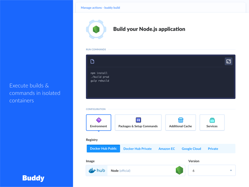 Buddy application building