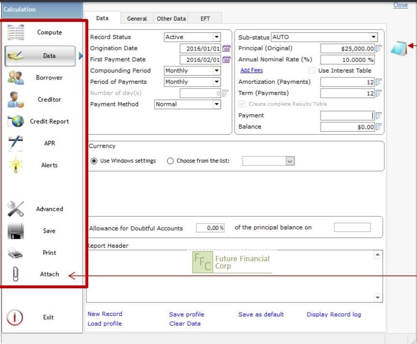 Margill Loan Manager calculation tool screenshot