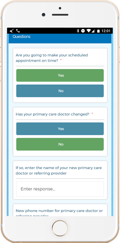 Smart automatic appointment reminders can be sent via SMS and email to reduce patient no-shows