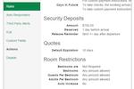 OwnerRez screenshot: OwnerRez - Rules setting for properties