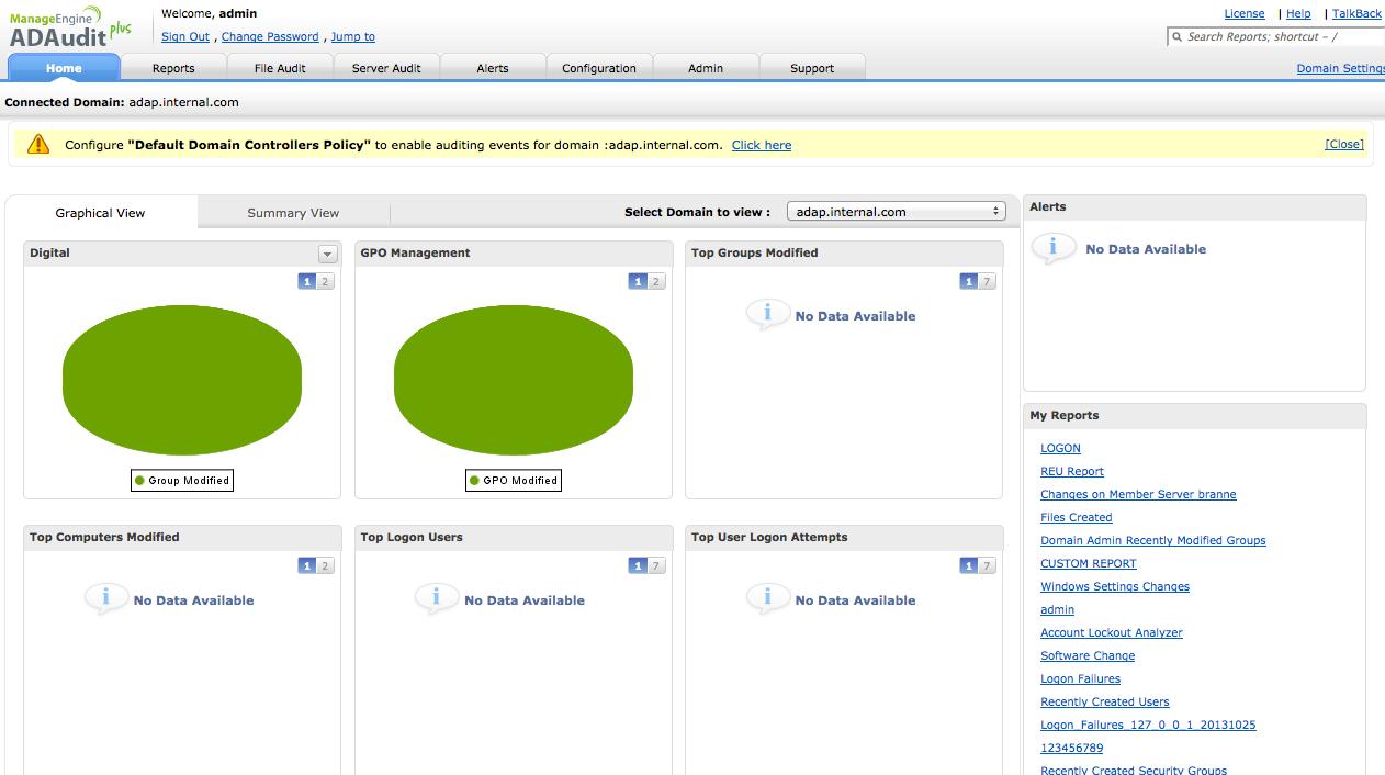 ManageEngine ADAudit Plus Software - 1