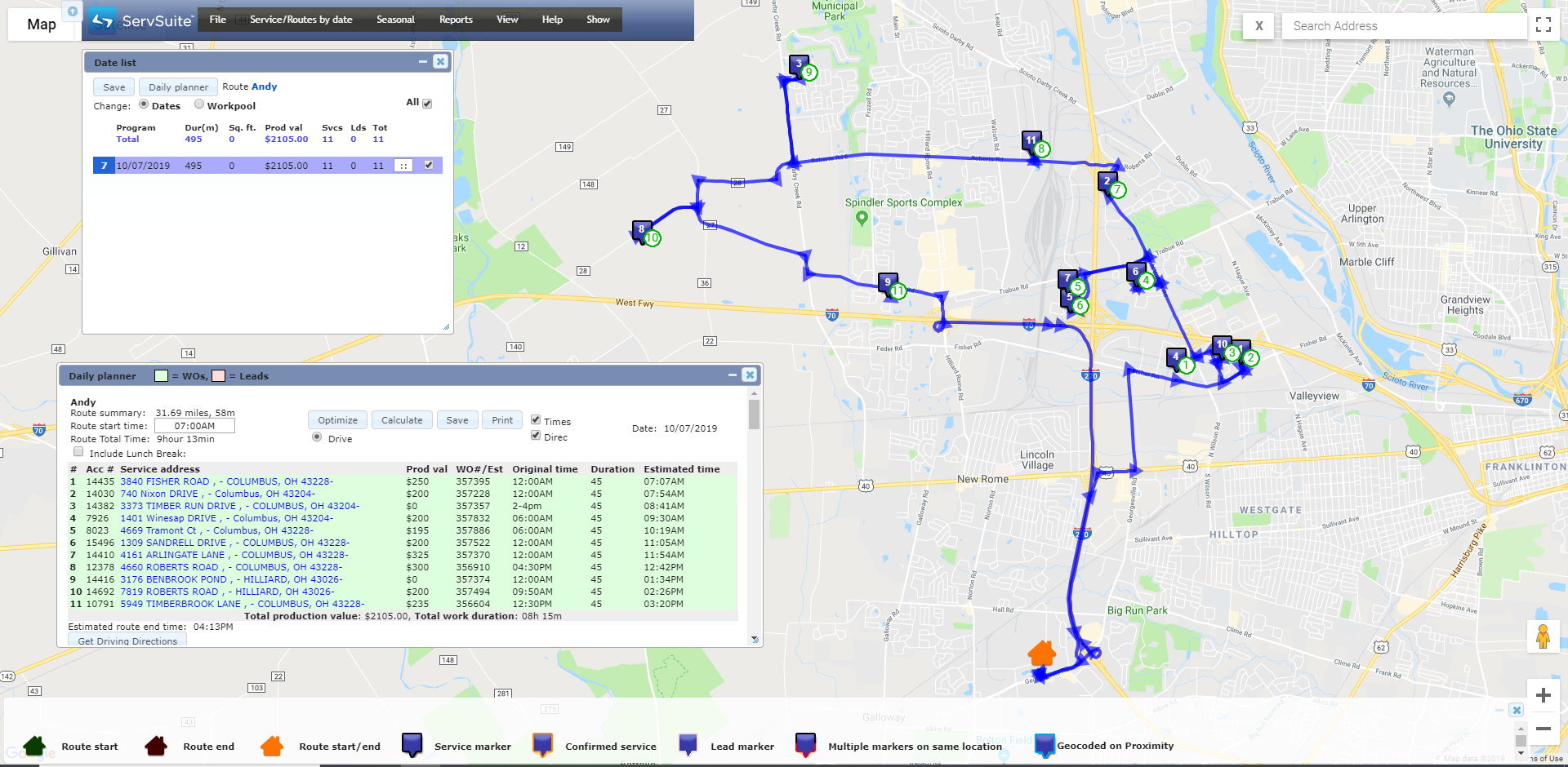 Route Optimization/Intelligent Routing