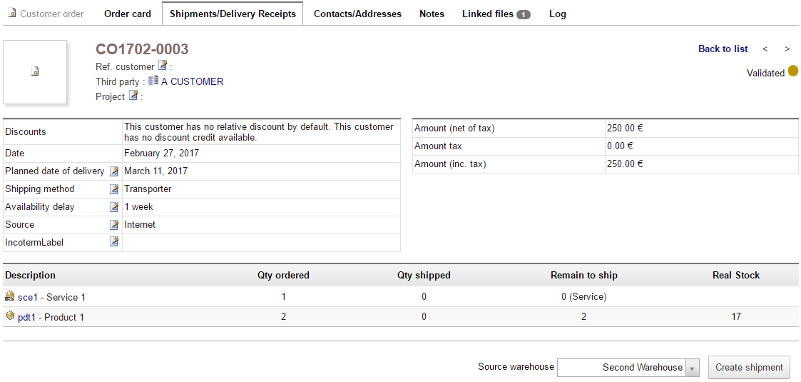 Dolibarr Software - Dolibarr shipment management