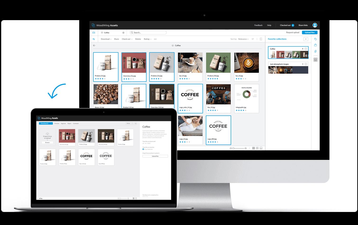Share brand content via the brand portal