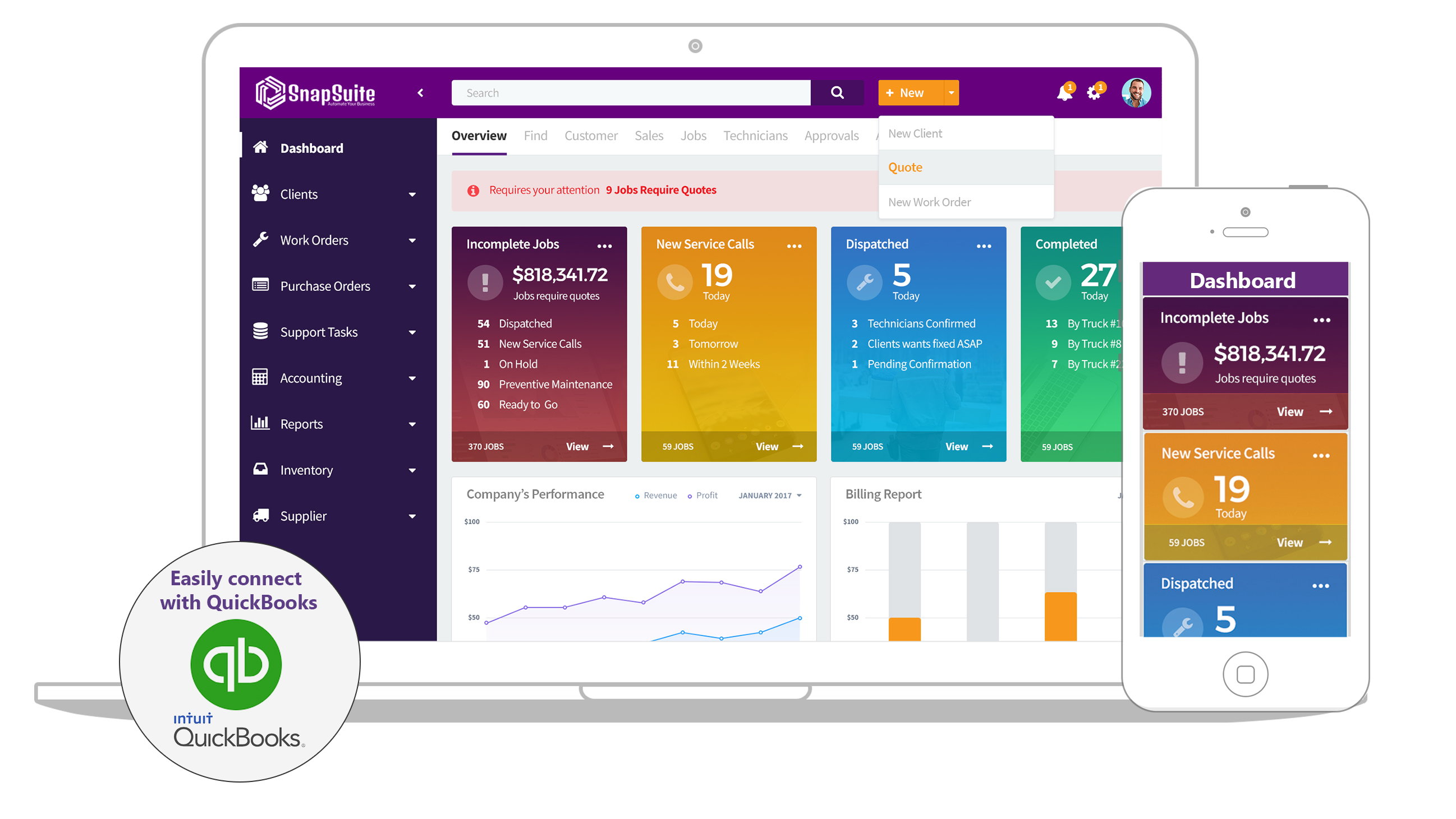 SnapSuite Software - Snapsuite dashboard