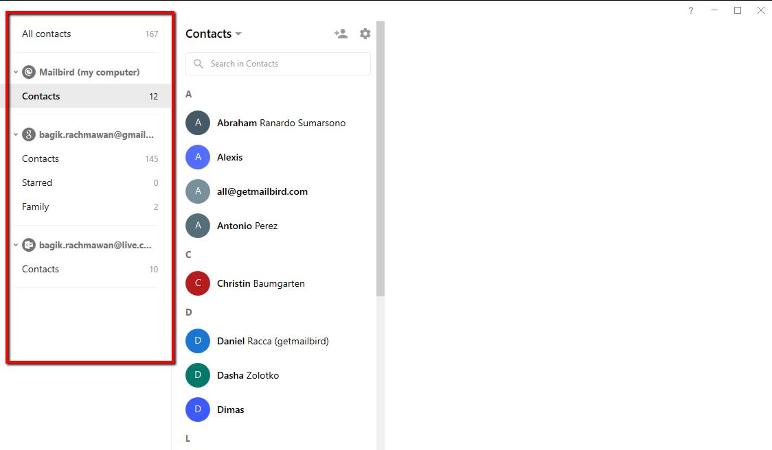 MailBird Software - New contact