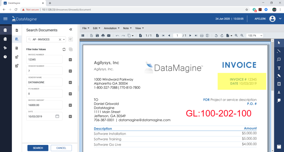 Agilysys DataMagine Software - 1